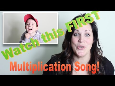 The TIMES Table Songs!  1-10 (Instructions AND Songs in one Video)