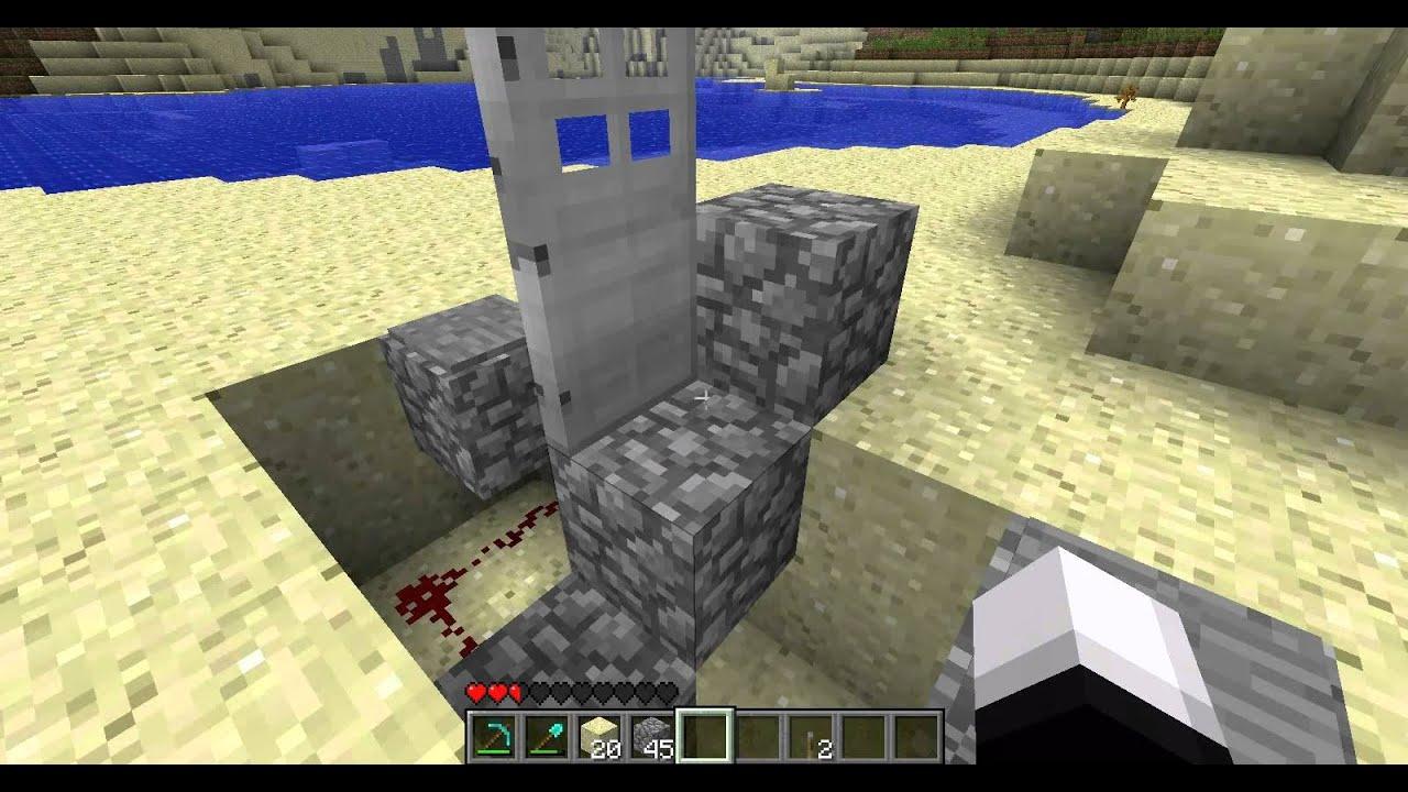 Minecraft Tutorial Schliessbare Tur Bauen Redstone Deutsch