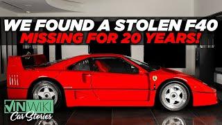 Stolen 1 Million Ferrari F40 Accidentally Found In Japan