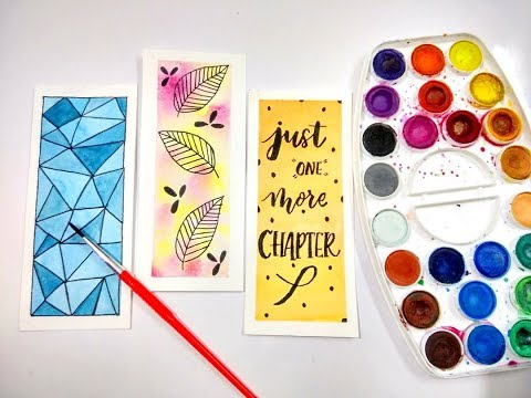 DIY: Bookmarks & Watercolor Techniques for Beginners | Watercolor DIY | How To Make Bookmarks