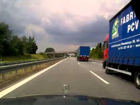 Driving in Germany: Görlitz- Bautzen- Dresden A4 E40