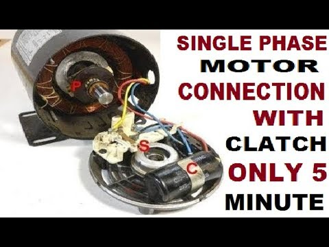 Single phase clutch (centrifugal switch) motor connection