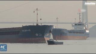 Turkish, Russian cargo vessels collide in Istanbul's Bosphorus Strait