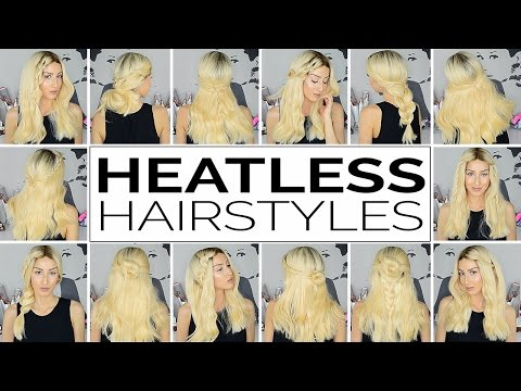18 Heatless Hairstyles For Short and Medium Hair