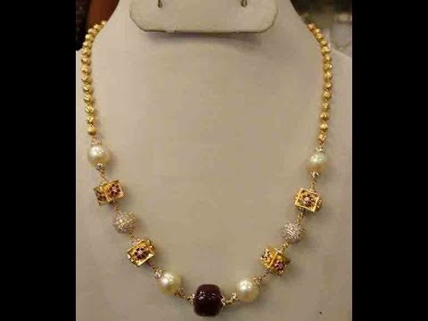 Latest Balls Chandra Gold Necklace Jewellery Designs