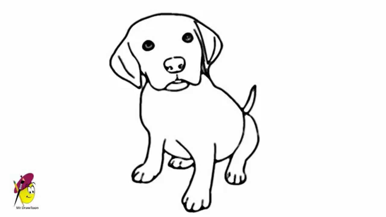 Baby dog pets and animals easy drawing how to draw a for Baby drawing easy