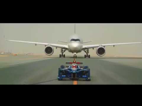 Formula E race car vs Qatar Airways' Airbus A350 & Boeing 787 Dreamliner|Corporate Travel Concierge