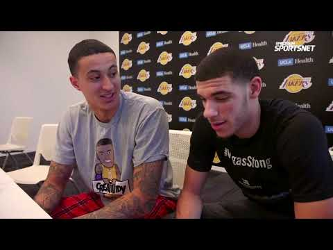 Kyle Kuzma Wearing Creatividy on Spectrum Sportsnet