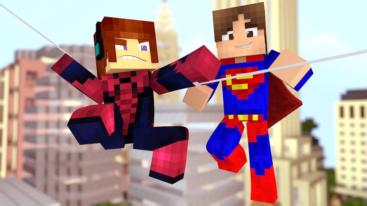Minecraft  Dia de Heróis ( Homem Aranha e SuperMan)- Aventuras Com Mods -  YouTube 0ce98c6a08b62