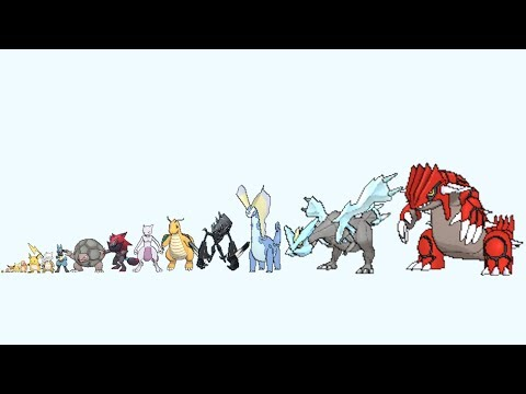 Pokemon From Smallest to Biggest