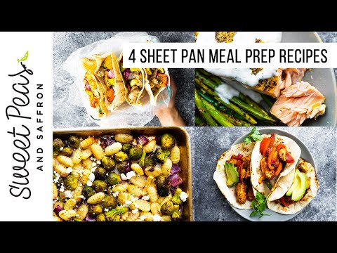 EASY CLEAN-UP ALERT! 4 Sheet Pan Meal Prep Recipes | Prep Ahead or Eat as Leftovers