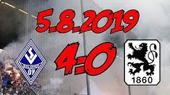 SV Waldhof Mannheim 4:0 TSV 1860 München – 5.8.2019 – Spiel und Statements zu den SVW-Aktionen