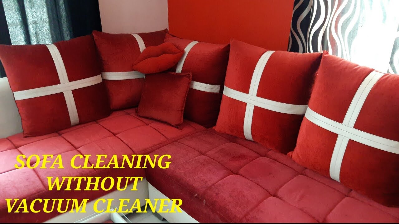 Superb SOFA CLEANING WITHOUT VACUUM CLEANER// HOW TO REMOVE STAINS FROM SOFA /  COUCH IN 2 MIN