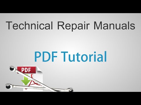 Technical Repair Manuals - Adobe Reader PDF Tutorial