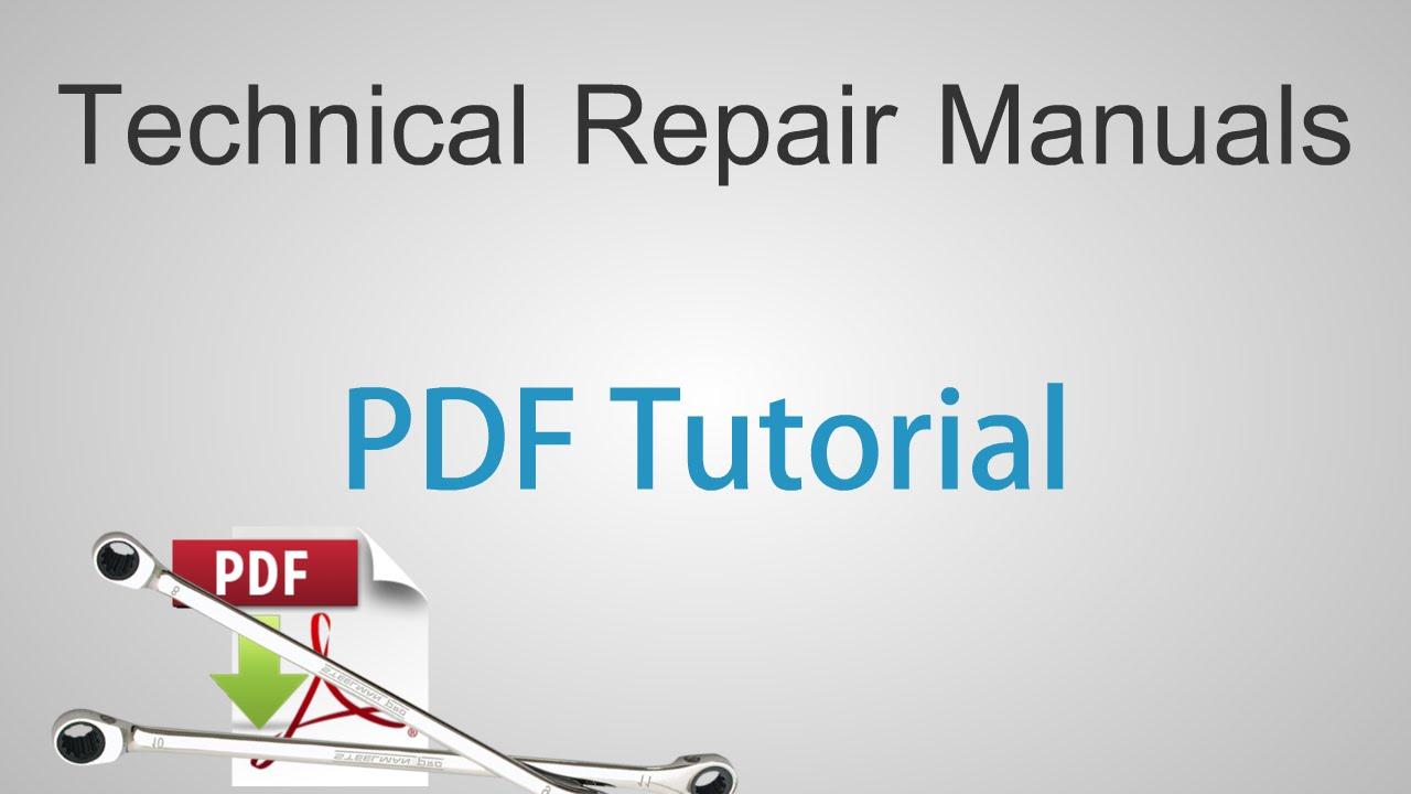 technical repair manuals adobe reader pdf tutorial youtube