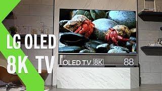 """LG OLED 8K de 88"""": imponente y con una calidad de imagen impresionante"""