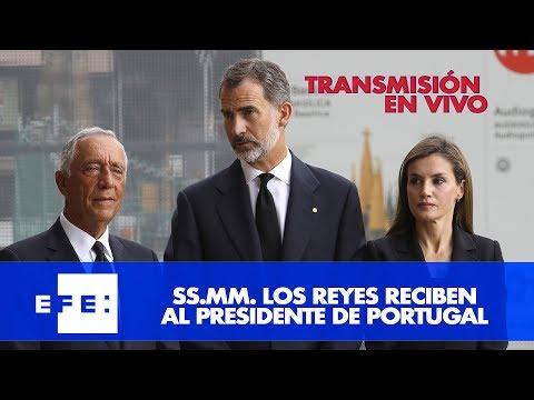 Los Reyes reciben con honores la visita del Presidente de Portugal