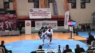 (4038) 49kg Aleyna Ozdemir vs Bilinmiyen (2016 Turkish Junior TKD championships)