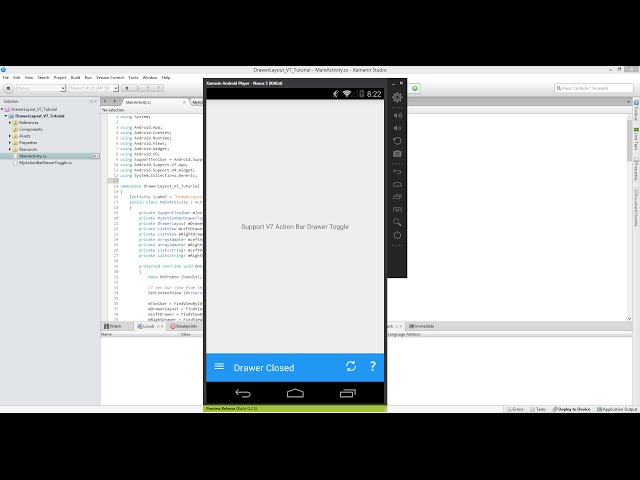 Xamarin Android Tutorial   52   Reverse Navigation Drawer