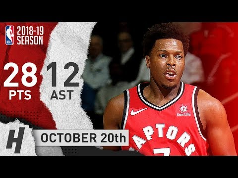 Kyle Lowry CLUTCH Highlights Raptors vs Wizards 2018.10.20 - 28 Pts, 12 Assists!