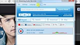 How to record online radio music[AOL,Spotify,Jango]