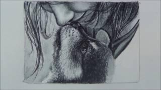 Рисуем любимого щенка акварелью/Рисунок собаки/Собака/drawing a dog in watercolor