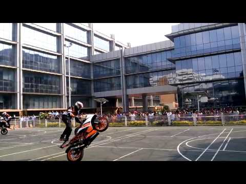 KTM bike stunts.