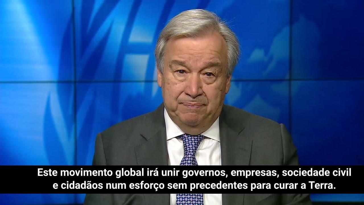 """Chefe da ONU alerta para """"ponto sem retorno para o planeta."""""""
