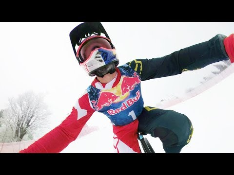 Download Youtube: (POV)Downhill MTB on steepest World Cup Ski Course.