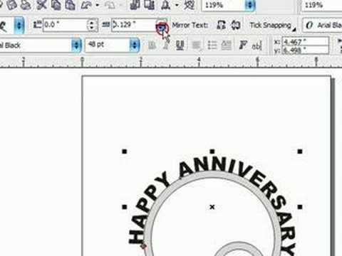 Designing Scroll Saw Patterns in Corel Draw. Text on a