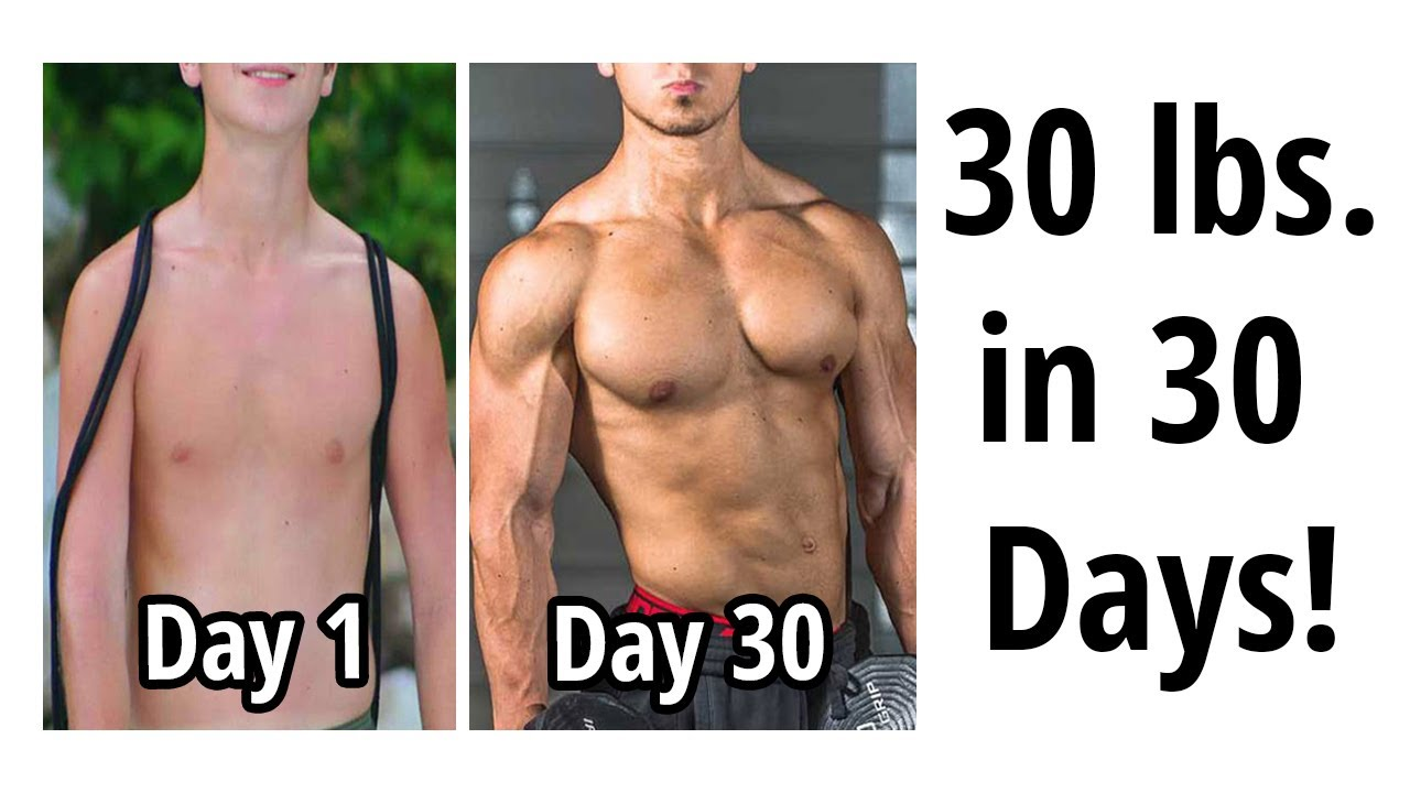 GAIN 30 LBS  OF MUSCLE IN 1 MONTH