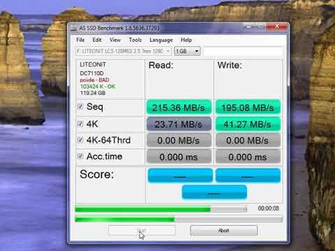 benchmark ssd liteon 128 gb
