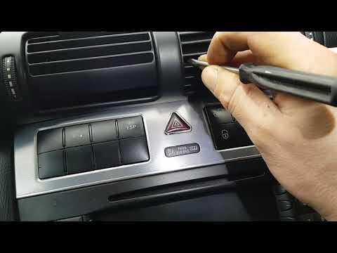Как снять магнитолу на мерседесе W203