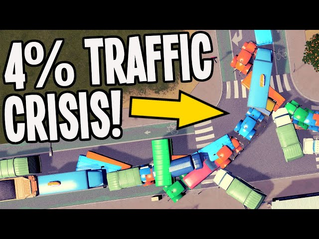 4% Traffic Madness SOLVED in Cities Skylines!