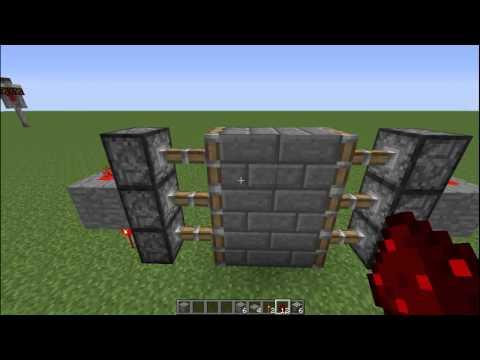 Minecraft Tutorials | How To Make An Automatic 3x2 Piston Door