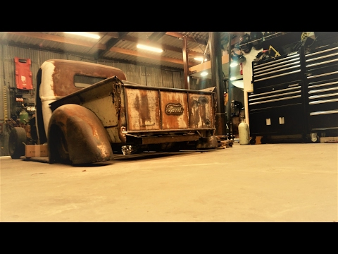 The driveline tunnel, DIY tailgate, new hinges & bed frame: (PART 10) 1947 ford f100 rat rod build