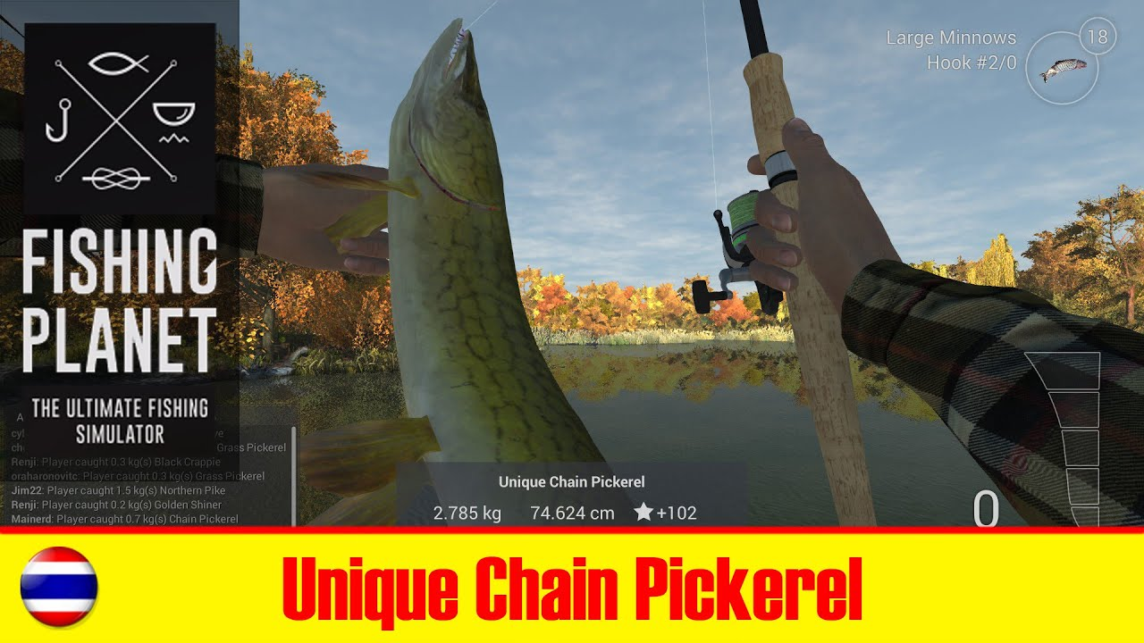 Fishing planet unique chain pickerel in new york youtube for New york out of state fishing license