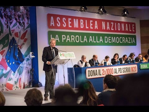 Paolo Gentiloni Nuovo Presidemte PD
