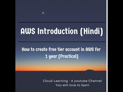How to create aws free account for 1 year - AWS