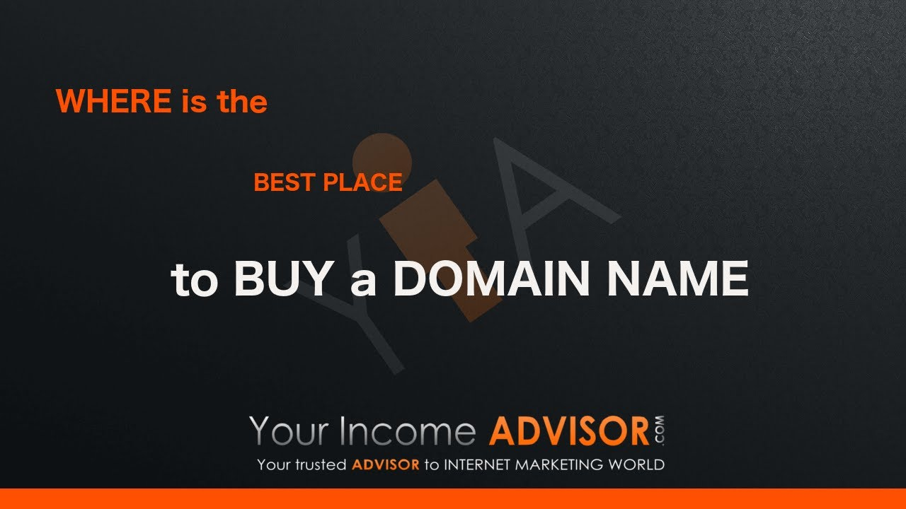 Where is the best place to buy a domain name - YouTube