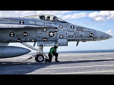 USS Gerald R. Ford Flight Ops • Newest USN Aircraft Carrier