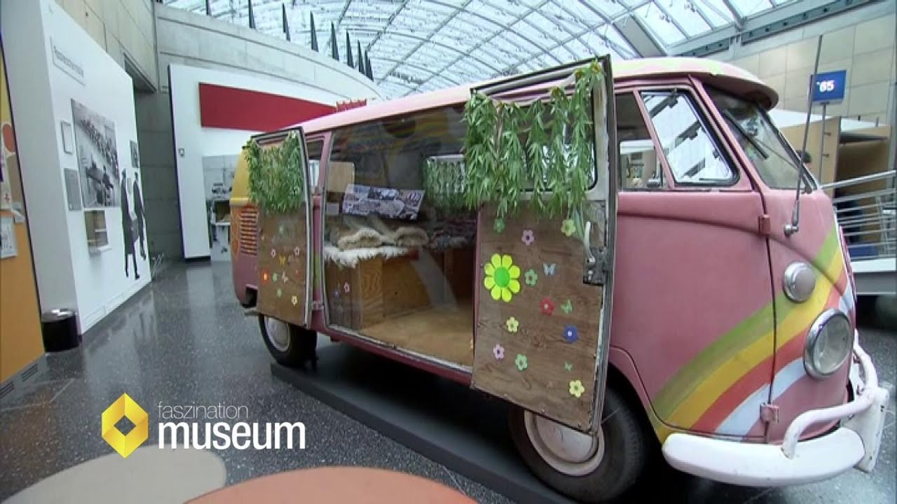 vw hippie bus von innen und au en haus der geschichte faszination museum youtube. Black Bedroom Furniture Sets. Home Design Ideas