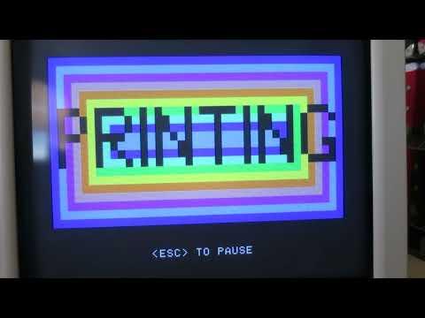 Apple II Print Shop Color to ImageWriter II demo