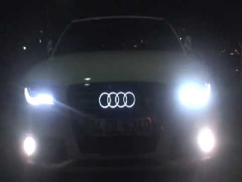 audi lighted emblem cooll youtube. Black Bedroom Furniture Sets. Home Design Ideas