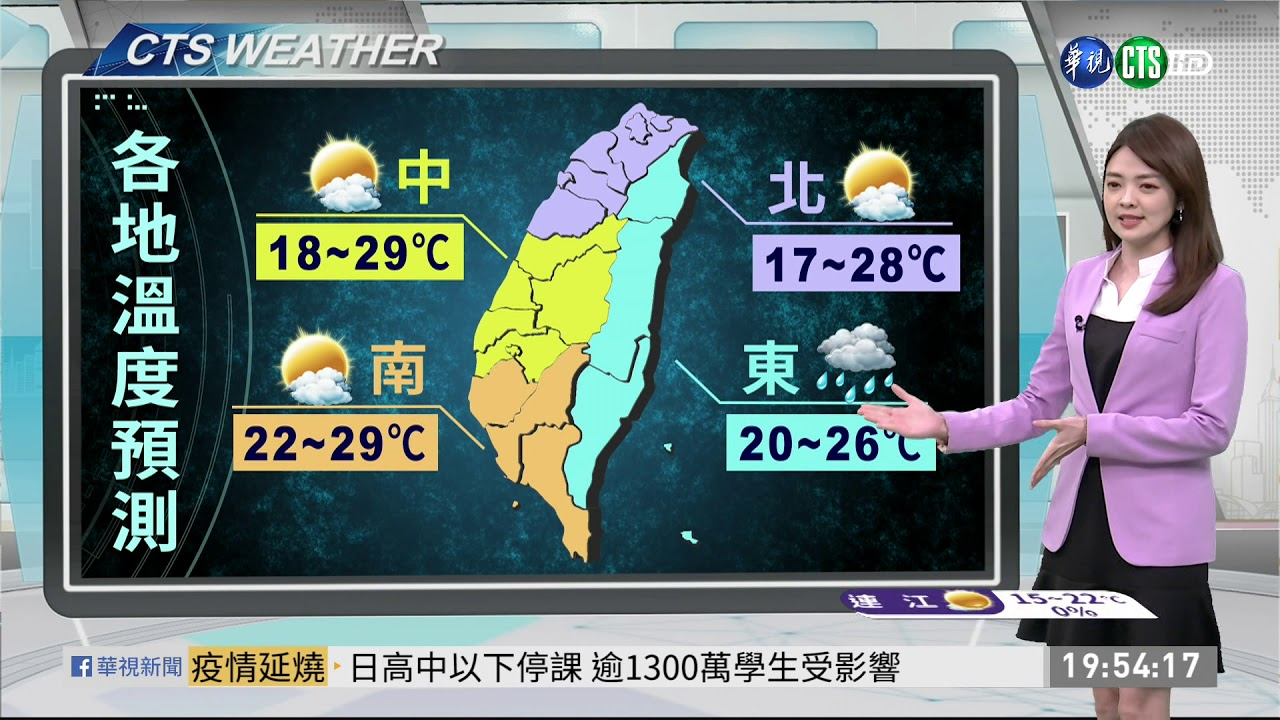 把握連假好天氣 週日鋒面到有雨   華視新聞 20200228 - YouTube