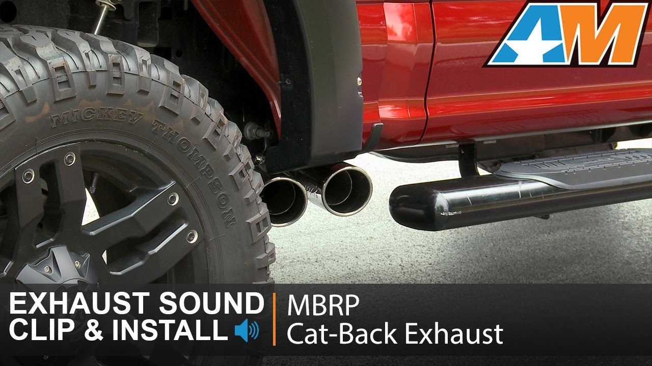 "Cat Back Exhaust >> 2015-2016 F-150 5.0L MBRP Pro Series 3"" Cat-Back Dual Side ..."