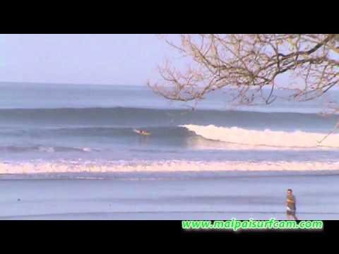 Surfing Santa Teresa malpaisurfcam.com 01-27-13 Mal Pais Costa Rica.