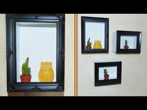FRAMES SHELVES DIY - YouTube