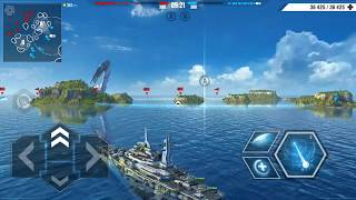 Pacific Warships | Tier IV Battleship Conqueror Gameplay