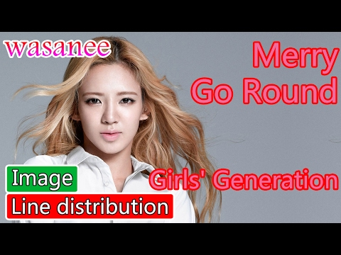 Girls' Generation/Snsd - Merry Go Round - Line Distribution (Color Coded Image)